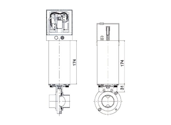 butterfly valve actuator c2