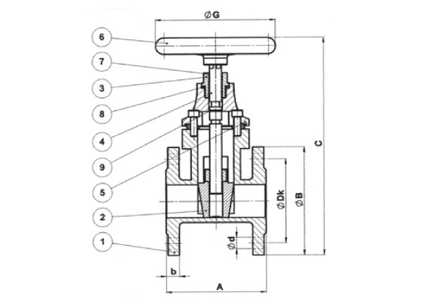 Ductile Iron Soft Seated Gate Valve Wiring Diagram